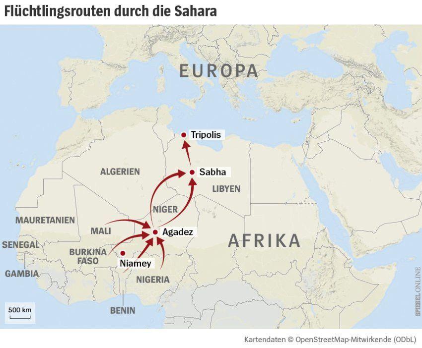Fluechtlinge Aus Afrika Europas Toedlicher Wall Aus Sand A Die