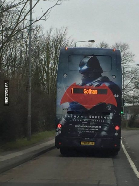 This bus is going somewhere..