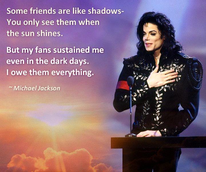 Michael Jackson Quotes About Love Michael Loved His Fans Words