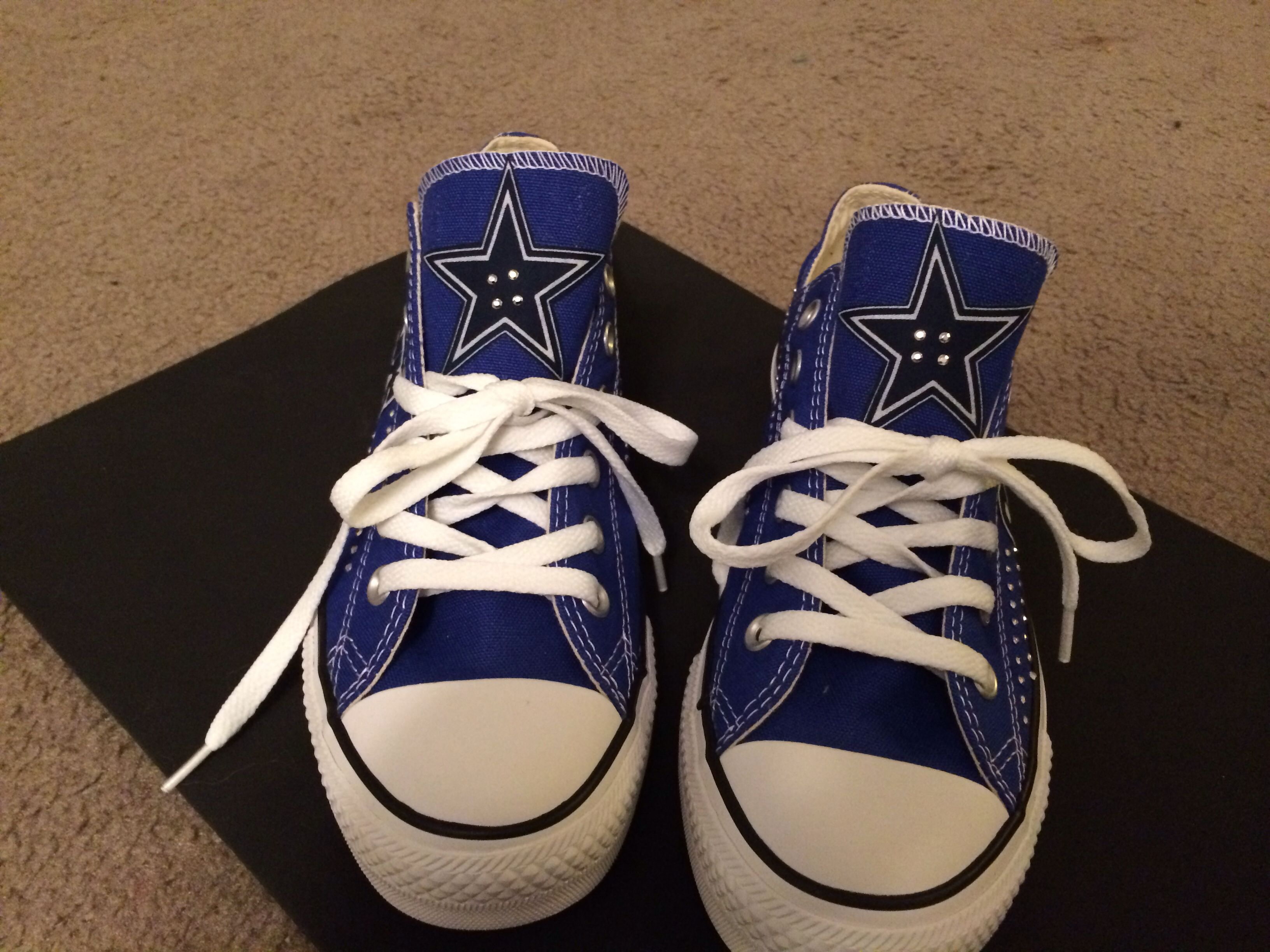 Blinged out cowboy sneakers front sneakers cowboy shoes