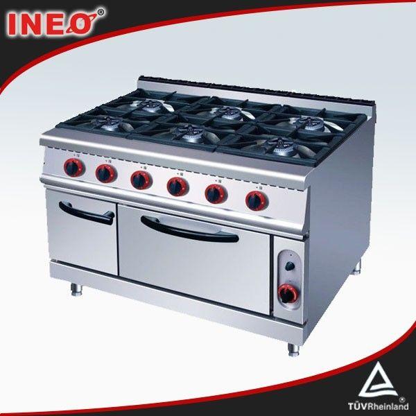 Stainless Steel Commercial 6 Burners Kitchen Gas Rangecooking Entrancing Range Kitchen Design Decoration