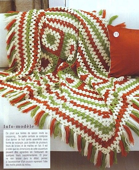 Simple and easy granny afghan with diagram | CROCHET | Pinterest ...