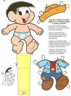 Amiga Da Educacao Chico Bento E Rosinha Bonecos De Papel Com Imagens Bonecos De Papel Bonecas Brinquedos E Brincadeiras