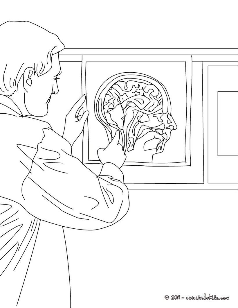 Coloring pages for doctors - Radiologist Coloring Page Amazing Way For Kids To Discover Doctor Job More Original Content