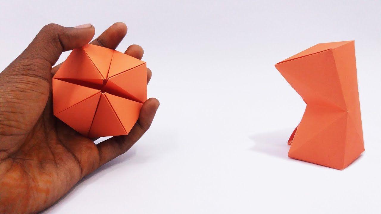 Make Easy Origami Paper Magic Transforming Flexahedron Magic Tricks Fo Magic Tricks For Kids Paper Magic Origami Easy
