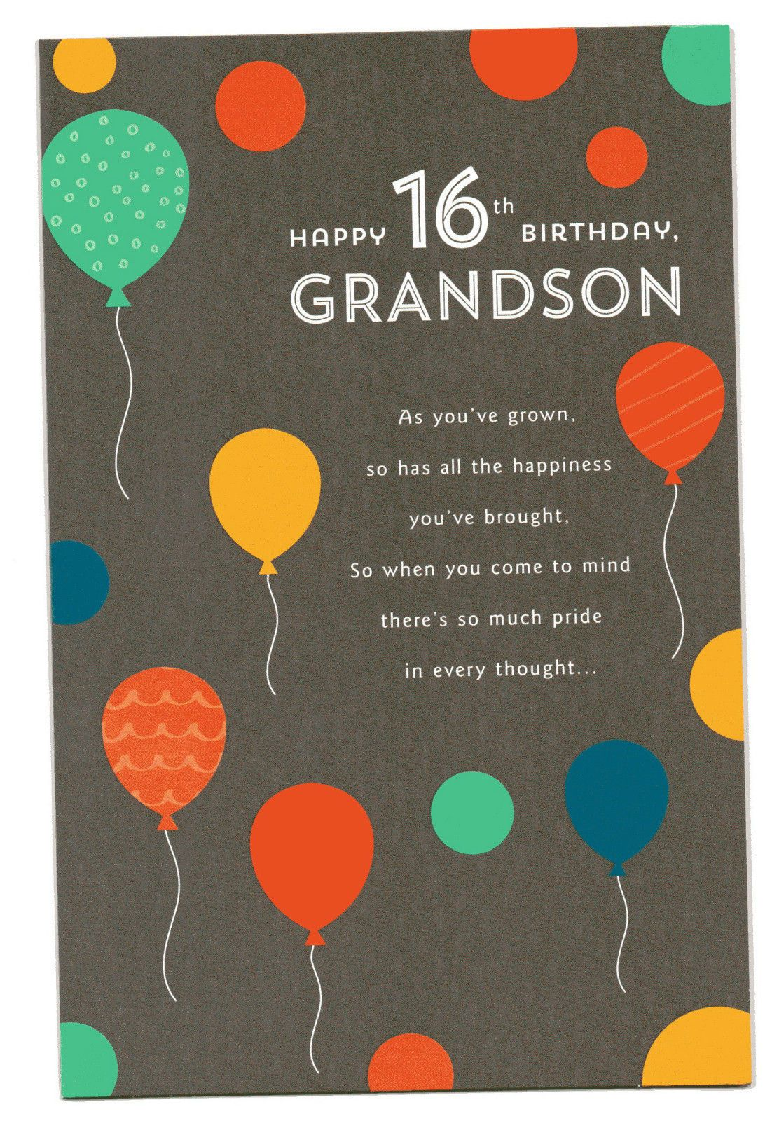 4 35 Gbp Happy 16th Birthday Grandson Three Fold 16 Greeting Card With Lovely Words Ebay Ho Happy 16th Birthday 16th Birthday Wishes 16th Birthday Card