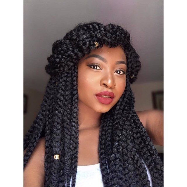 Half up crowned crochet braid ig caysworld outre xpression 3d braid length 24 - Crochet braids avec xpression ...