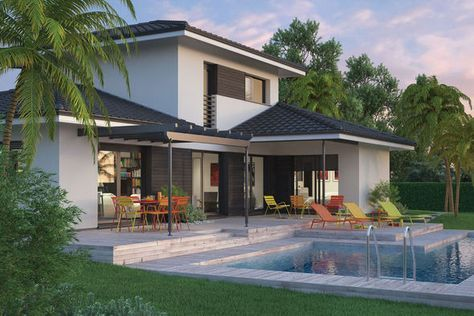 Modèle de maison Villa Florida -  Retrouvez tous les types de - modele de construction maison