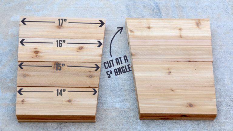 How To Build A Diy Tapered Cedar Planter Diy Wooden Planters Diy Wood Planters Wood Planters