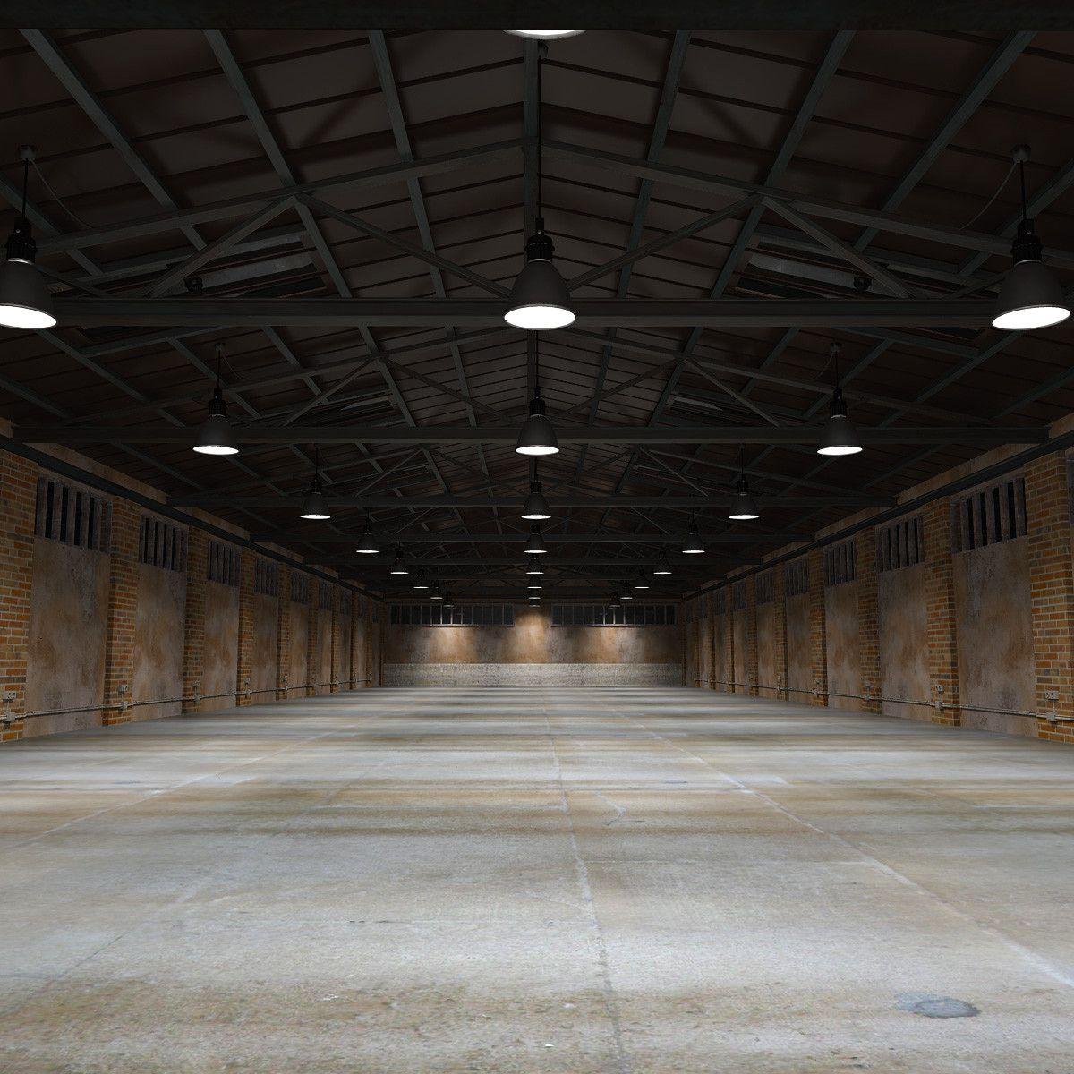 3d Old Warehouse Model