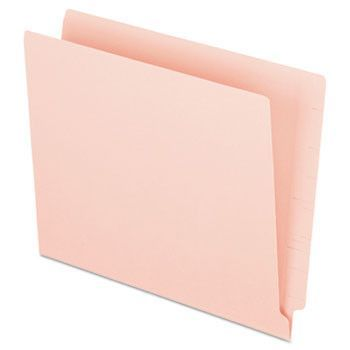 Reinforced End Tab Folders Two Ply Tab Letter Pink Box