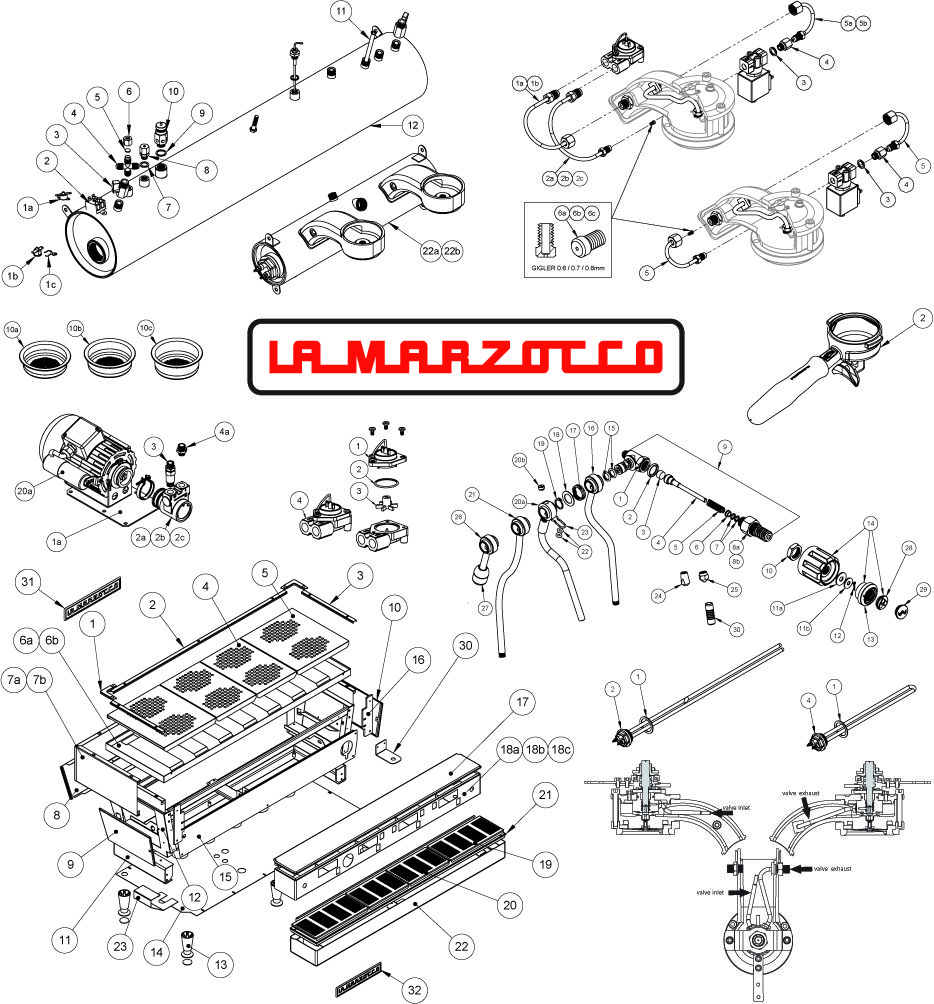 La Marzocco Linea service manual. A great piece of design