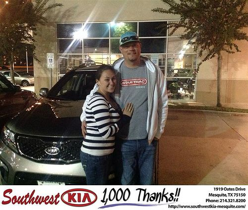 Thank you to Stephen & Robyn  Jones on your new 2012 #Kia #Sorento from Harold Bennett and everyone at Southwest Kia Mesquite! #NewCar