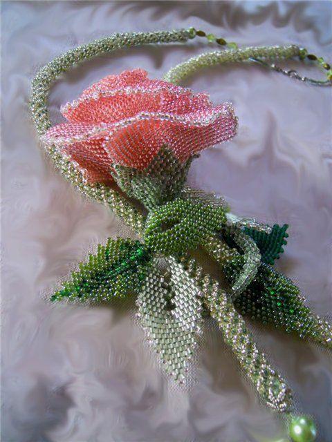 Роза | biser.info - всё о бисере и бисерном творчестве