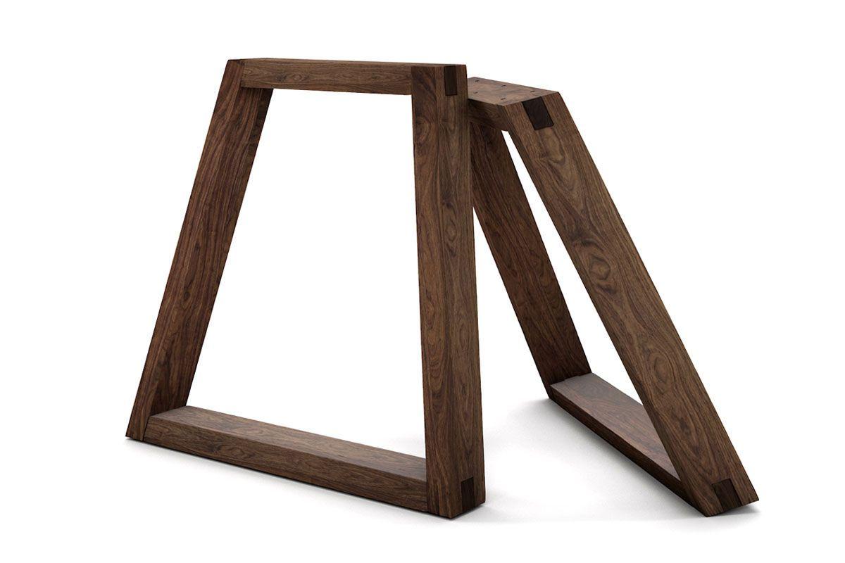 Holzkufen Tischgestell Nussbaum Holzpiloten Tischbeine Holz