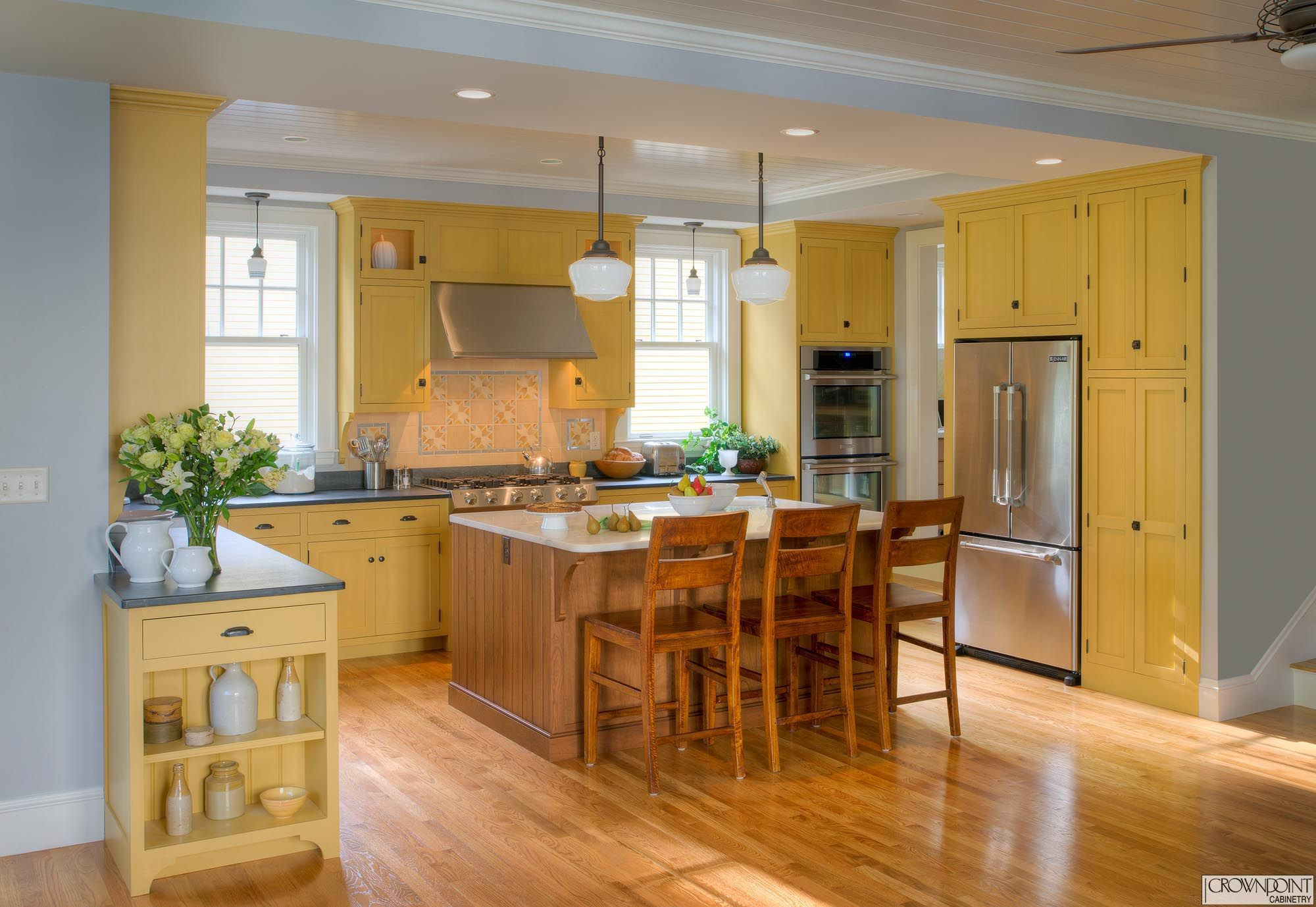 gallery 57 in 2020  yellow kitchen cabinets country