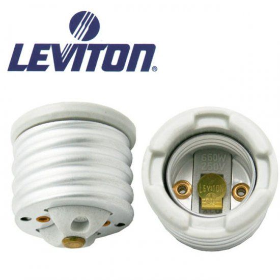 Leviton Mogul To Medium Lamp Socket Adapter Leviton Fluorescent Light Bulb Lamp Socket