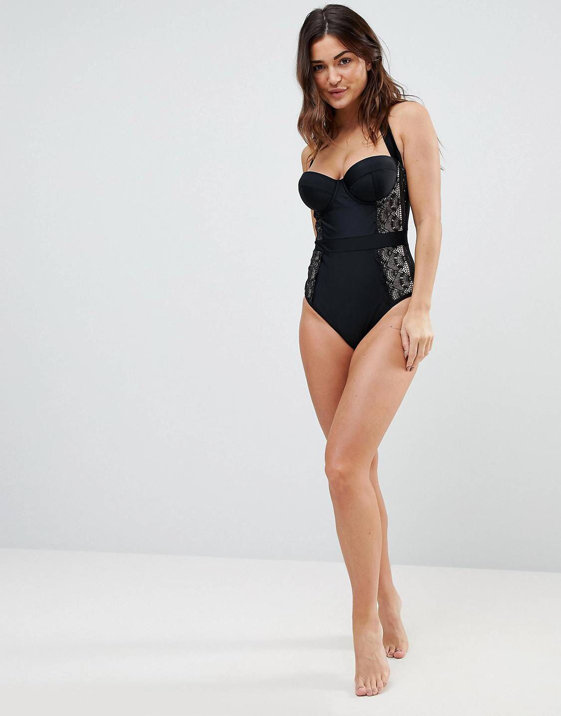 06273d1bf72 Wolf & Whistle Fuller Bust Lace Swimsuit DD - G Cup in 2019 | Wear ...