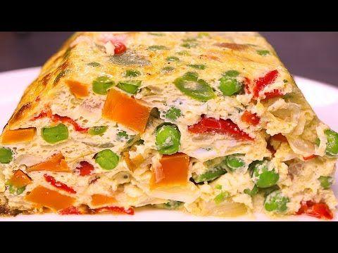 PASTEL DE VERDURAS AL HORNO - recetas de cocina faciles rapidas y economicas - YouTube