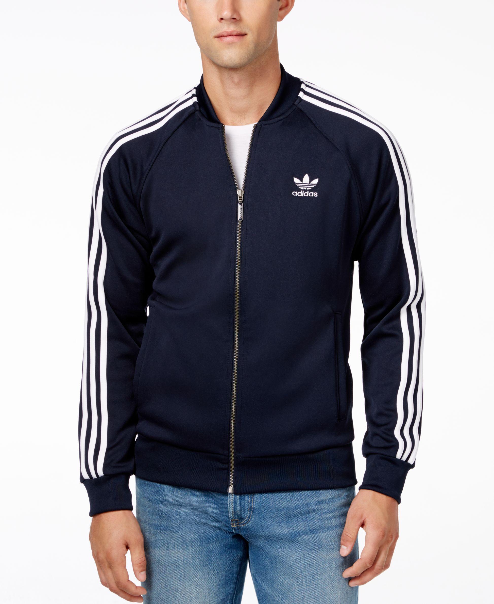 Adidas Azul Windbreaker Hombre Ropa Originals Gris Chaquetas
