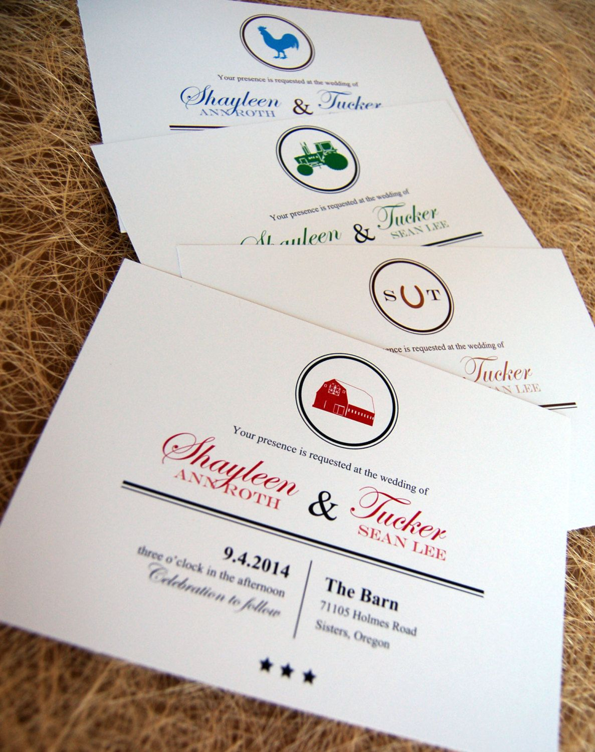 Rustic Barn Wedding Invitations by paperpieinvitations on Etsy ...