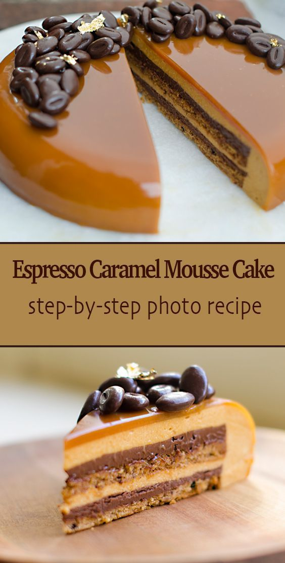 Photo of Caramel Espresso Entremet (Multi Layer Mousse Cake)