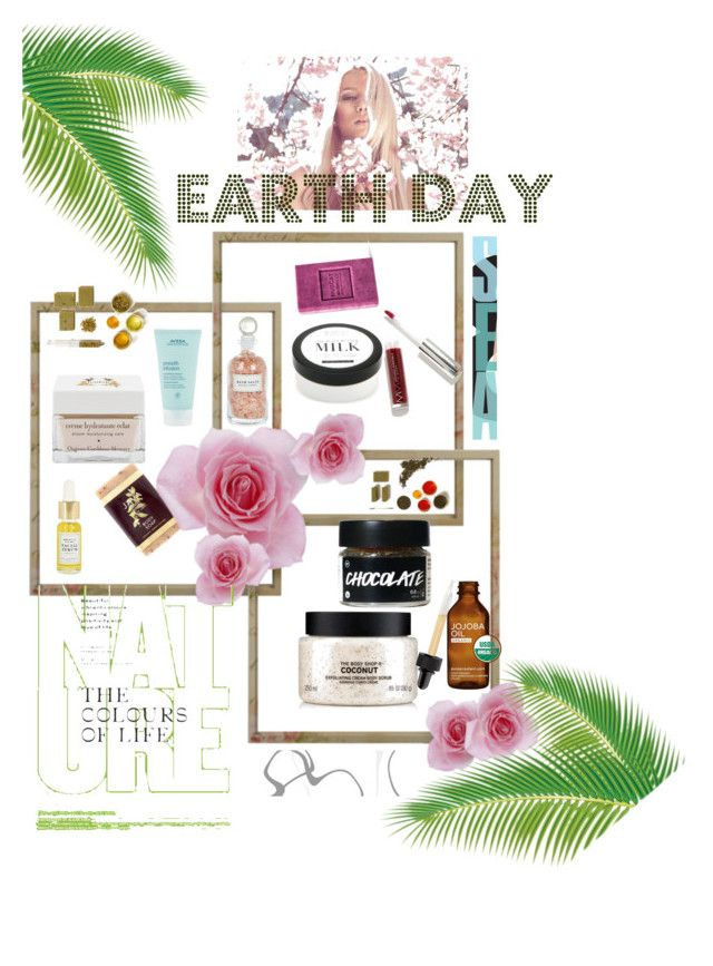 """""""Earth Beauty 🌏"""" by rstylista ❤ liked on Polyvore featuring beauty, Java, The Body Shop, Mullein & Sparrow, Home Decorators Collection, Modern Minerals, Hadali and Aveda"""