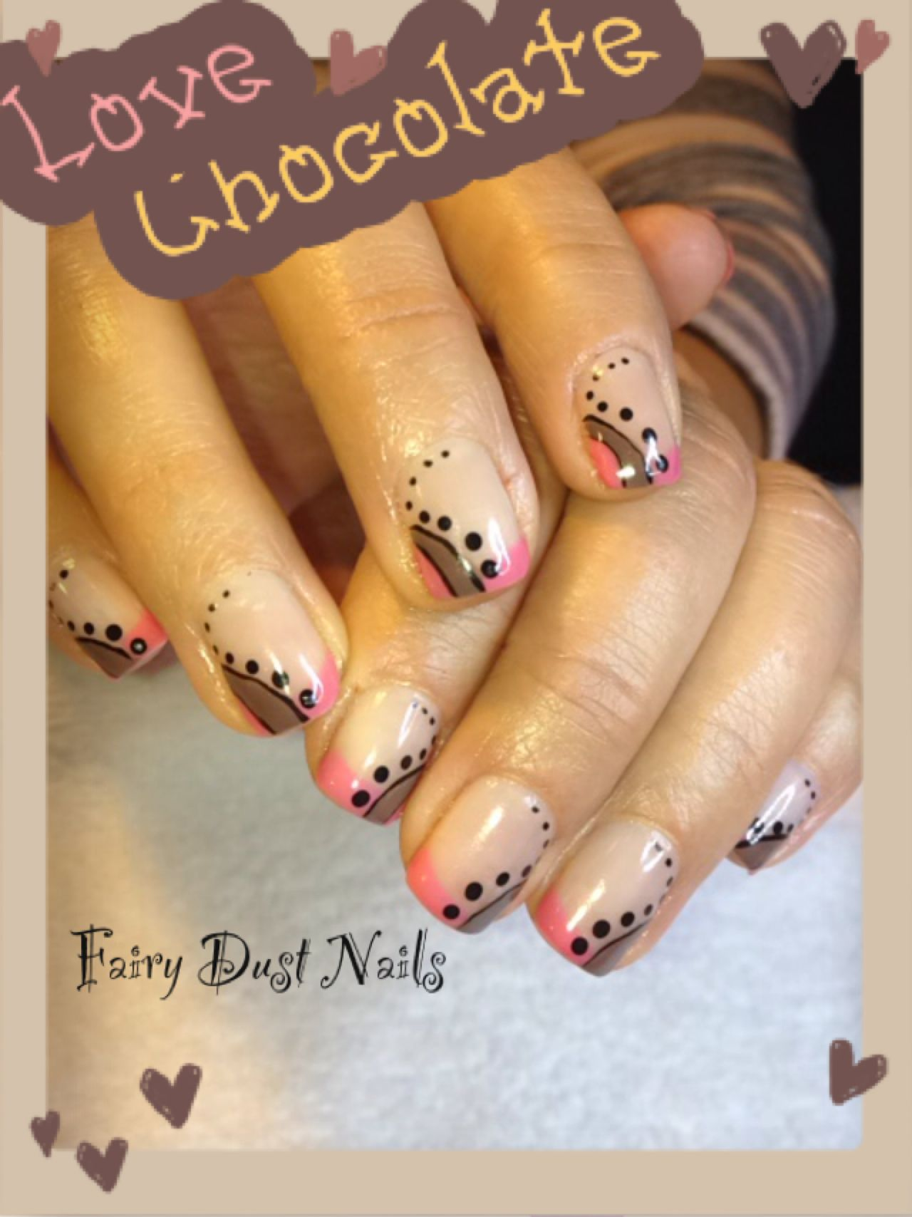 Nails. Taupe and pink french style nails | Nail art: french manicure ...