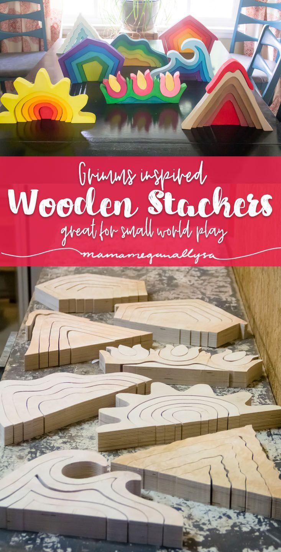 Photo of Homemade Wooden DIY Stacker Toys – MamaMeganAllysa