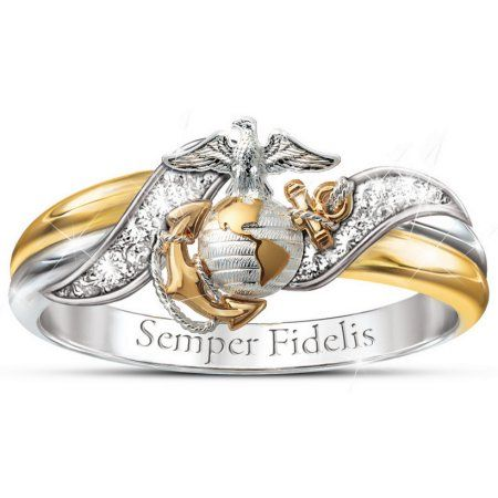 Ring: USMC Women's Embrace Diamond Ring