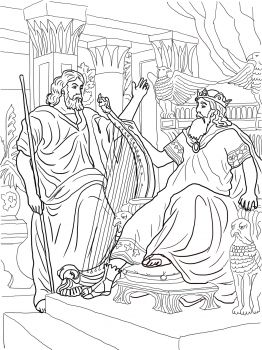 King David And Nathan Coloring Page Tell The Story For Kids