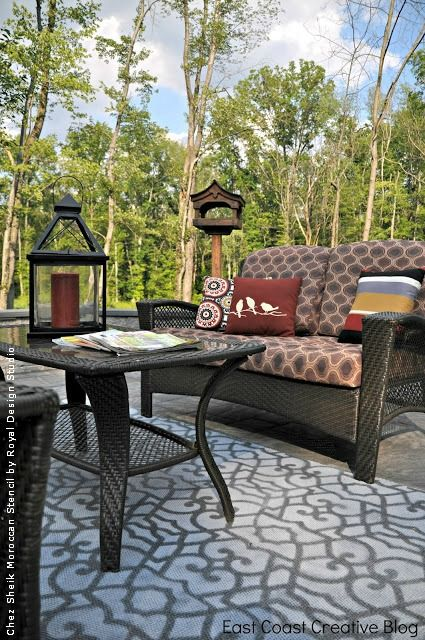 Stencil, Paint And Pattern Ideas For Stylish Outdoor Rugs