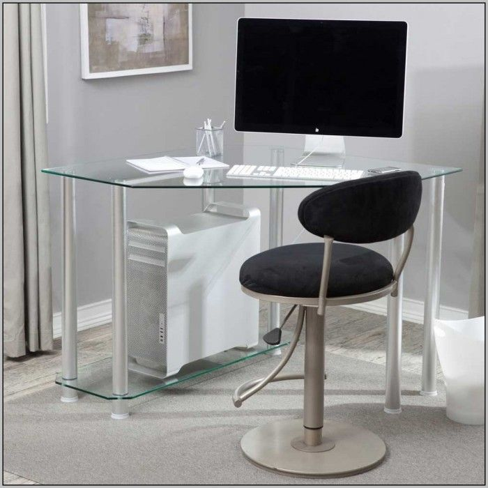 Awesome Glass Corner Desks For Home Office Decorating Ideas
