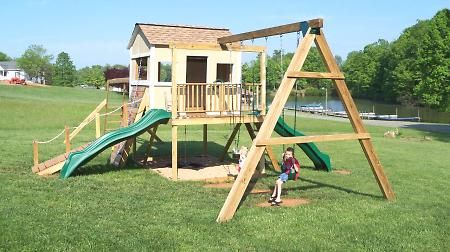 Basic Idea For Our New Swing Set Need To Add Monkey Bars At