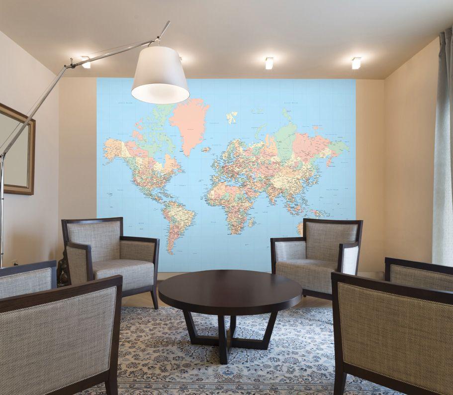 World map wall mural wall paper pinterest wall murals wall world map wall mural gumiabroncs Gallery