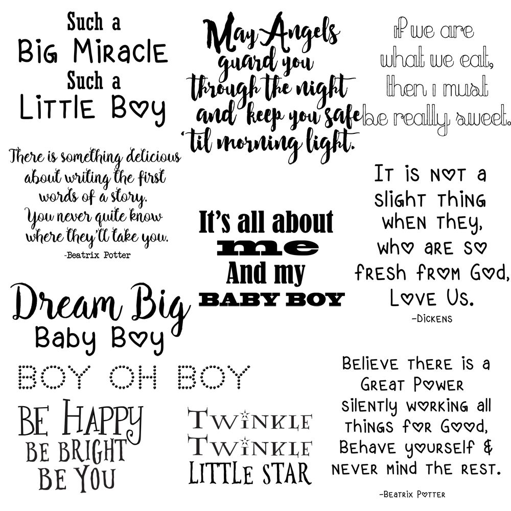 Quotes about Boys, Baby Boy Quotes, Photo Overlays, Little