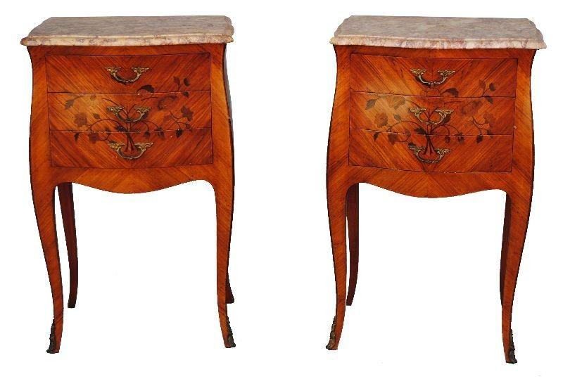 Paire De Chevet Style Louis XV Bois De Rose [750,00 U20ac]