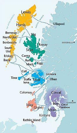 Overview map of the Western Isles, Scotland