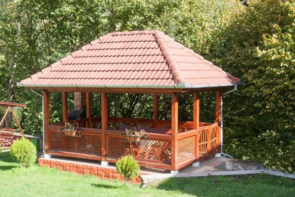 Rectangular Gazebo Free Outdoor Plans Diy Shed Wooden