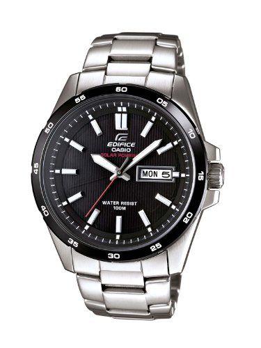 93b47c9ccef0 Casio EFR-100SB-1AVEF - Reloj analógico de cuarzo para hombre con correa de  acero inoxidable