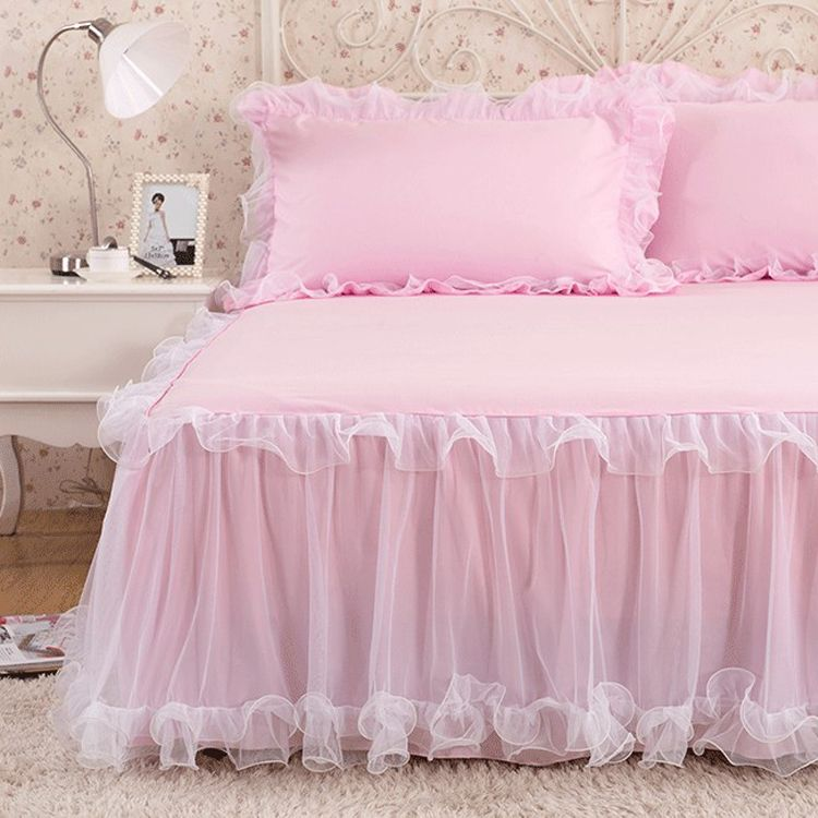 acheter couvre lit dentelle Pas cher De luxe Rufflled Couvre lit Romantique Dentelle Jupe de  acheter couvre lit dentelle