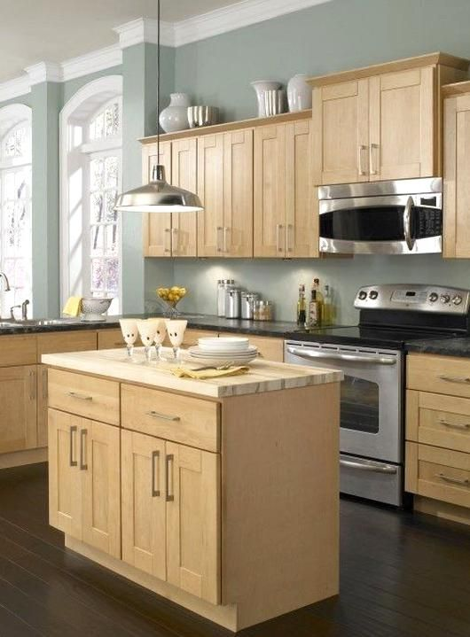 Maple Kitchen Cab and Wall Color Luxury Natural Maple ...