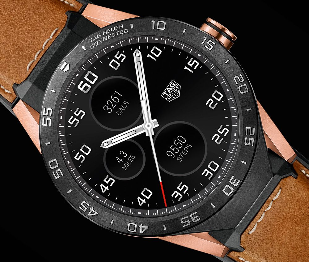 Tag Heuer Connected Smartwatch In Rose Gold Ablogtowatch Tag Heuer Watches For Men Luxury Watches For Men