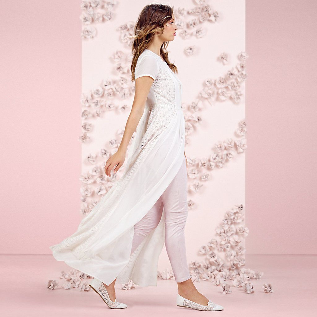 LC Lauren Conrad Runway Collection Lace Maxi Duster - Women's