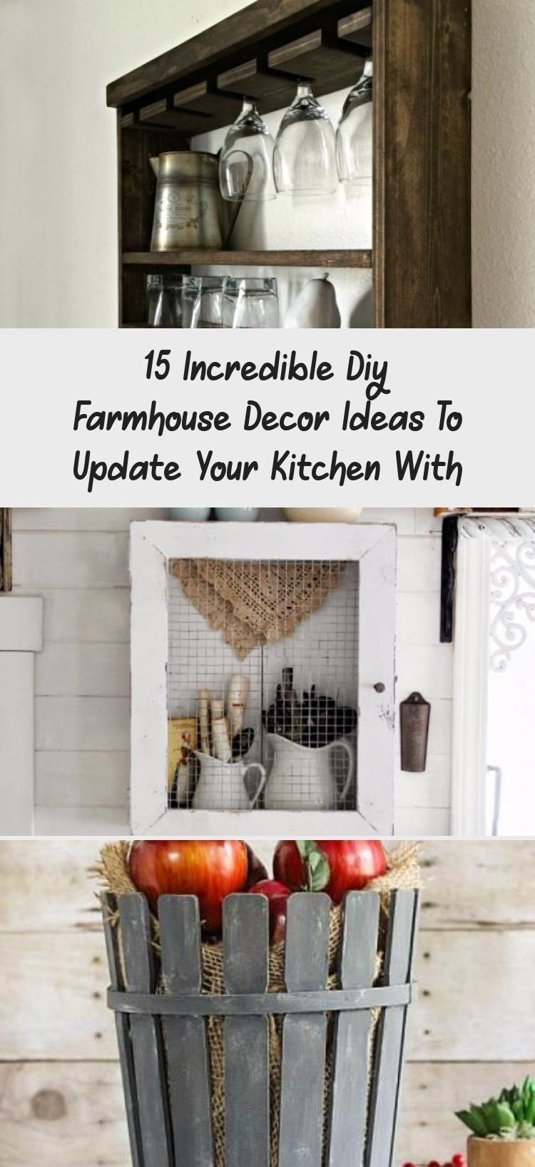 Photo of 15 unglaubliche DIY Farmhouse Decor Ideen, um Ihre Küche mit #diyfarmhous …, #Decor … zu aktualisieren