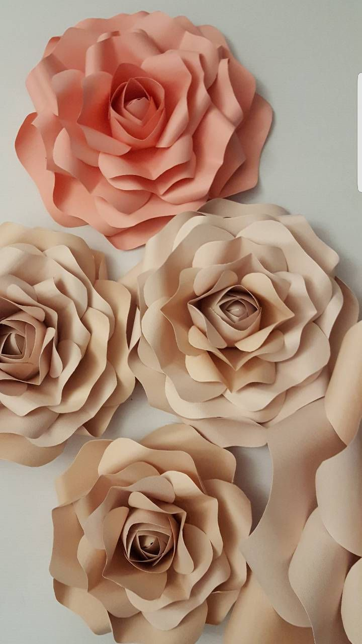 Paper Flower Template Small Rose Pdf File 34 With Video Tutorial