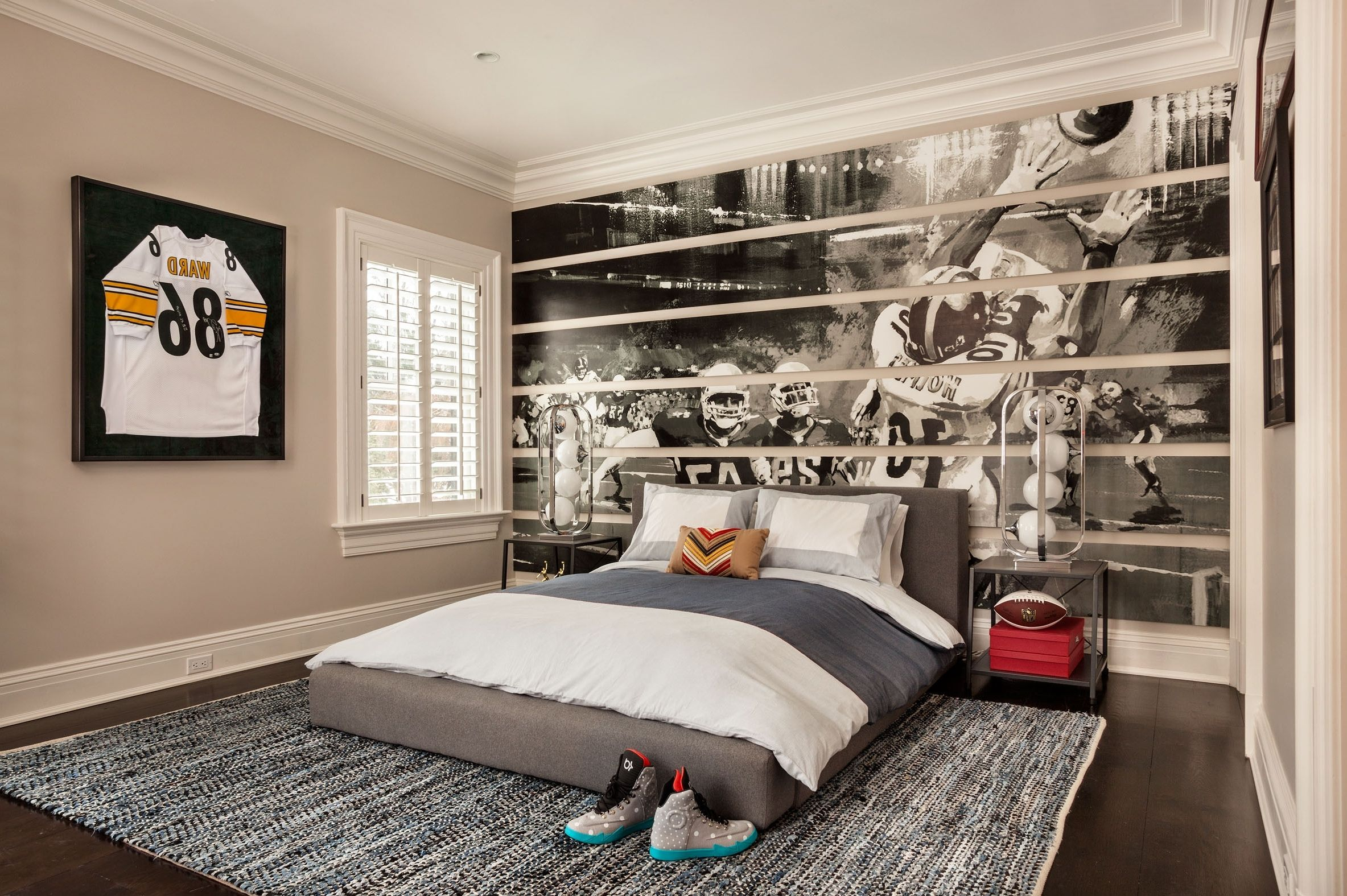 sports teen boy bedroom interior decoration with teens room sleep - Boys Bedroom Decorating Ideas Sports