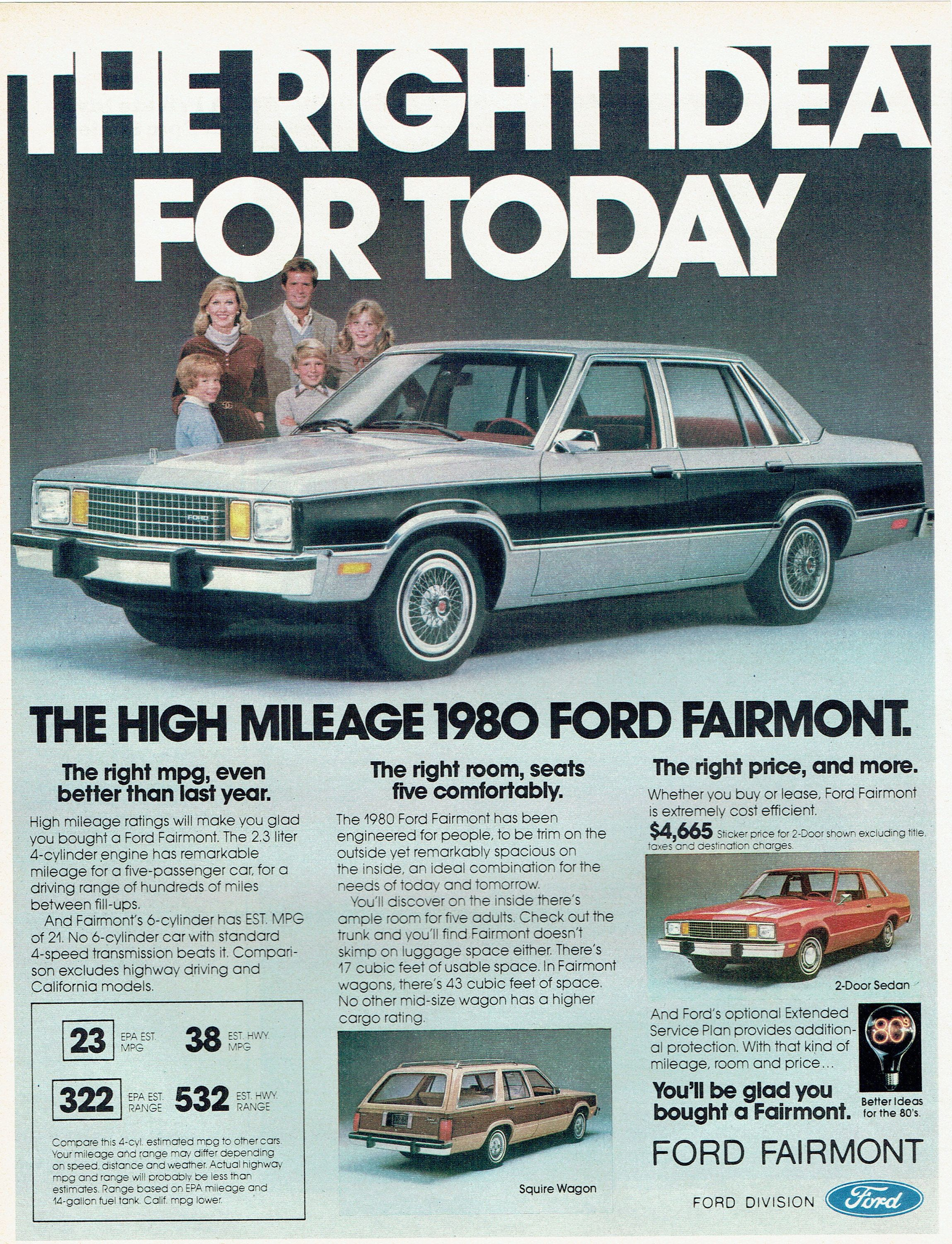 1980 Advertisement Ford Fairmont Ad Right Idea For Today 80 S