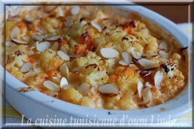 Gratin de chou fleur et de cheddar - La cuisine tunisienne ...