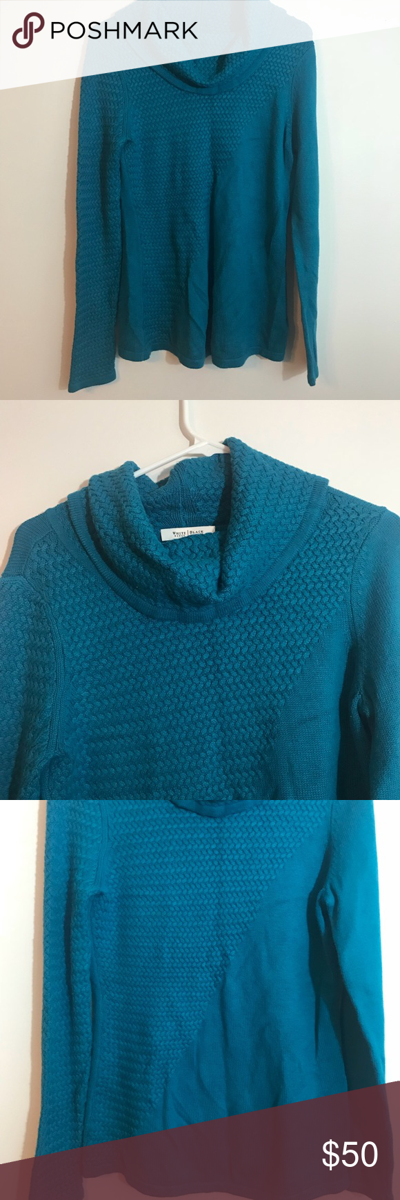 White House Black Market Blue Cowl Neck Sweater | Royal blue color ...
